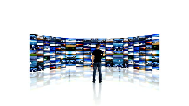 Tv wall and media screens video