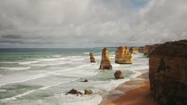 Twelve Apostles HD timelapse video. Australia video