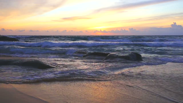 twilight sea at Karon beach Phuket Thailand video