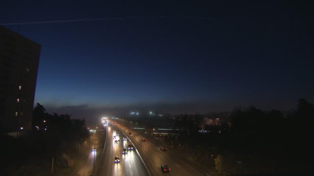 Twilight traffic. HQ 4:2:2 video