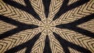 Twist circle kaleidoscopic pattern with hearts. video