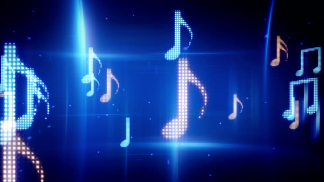 twitching musical notes loopable background video