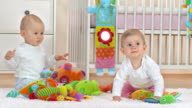HD: Two Adorable Curiously Babies video