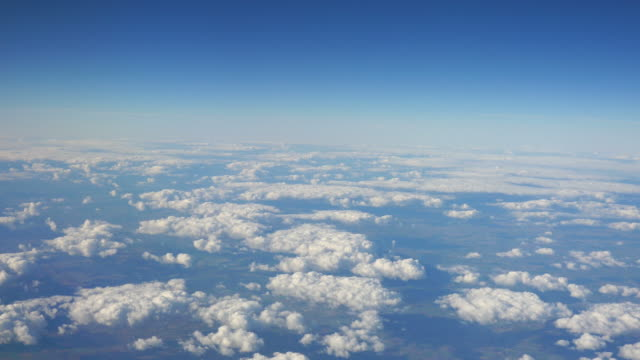 Two aerial shots above the clouds in 4K video