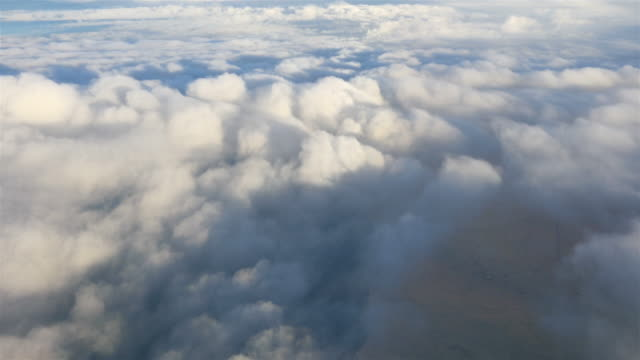 Two aerial shots of clouds in 4K video