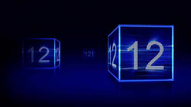 Two Blue Squares and Countdown video