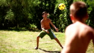 Two Boys Playing Soccer video