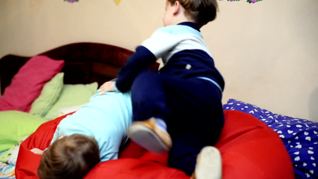 Two boys playing. video