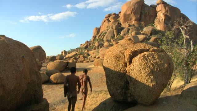 two bushmen walking - Bulls_Party_Kran video