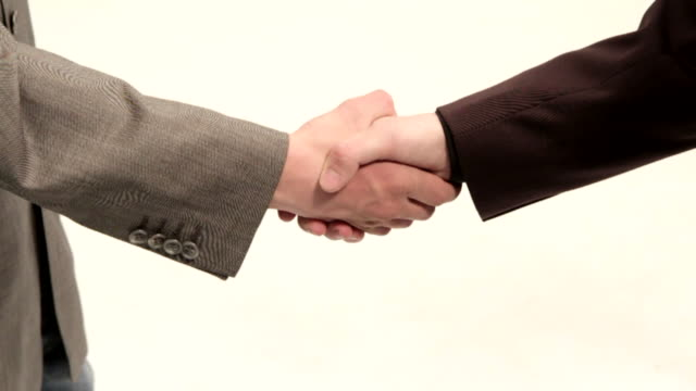 Two businessmen a deal video