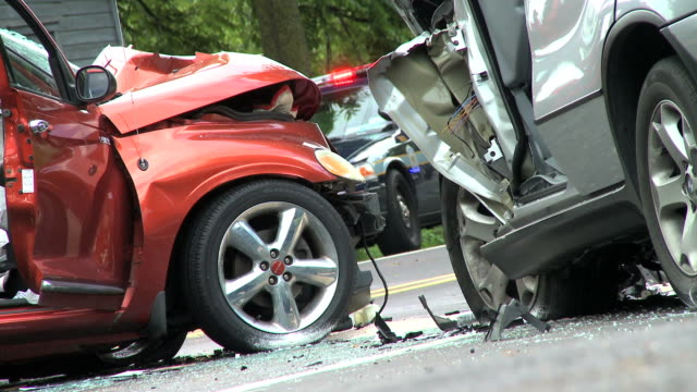 Two Car Accident - Close Up video
