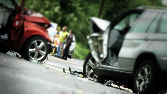 Two Car Accident - Medium Shot video