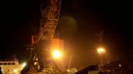 Two cargo cranes video