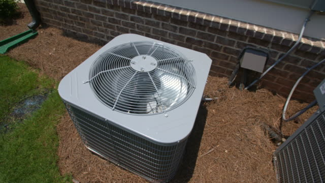 Two Central Air Conditioning Units from Above video