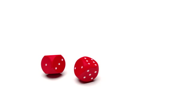 Two dice dropped video