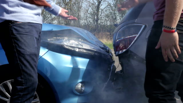 Two Drivers Arguing After Traffic Accident video