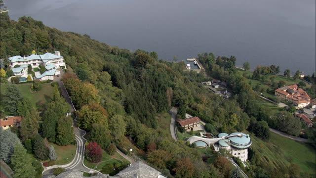 Two Early 20th Century Houses  - Aerial View - Piedmont, Provincia di Novara, San Maurizio d'Opaglio, Italy video