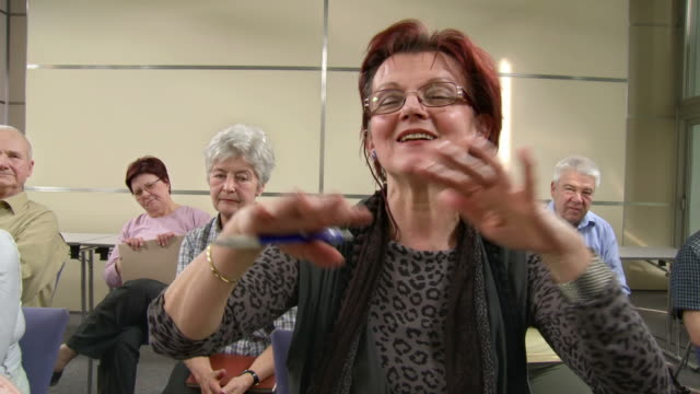 HD: Two Elderly Women Participating In Seminar video