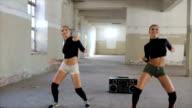 Two girls dancing video