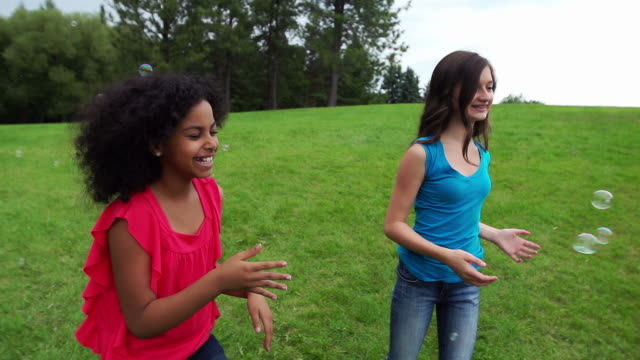 Two girls in a park video