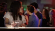 Two girls meet up in bar video