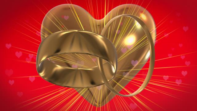 Two gold rings in 4K loop video