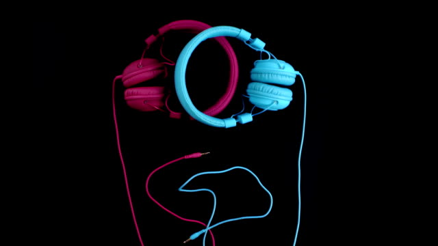 Two headphones - one heart. Stop motion video