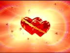Two hearts in love - center (loop, NTSC) video