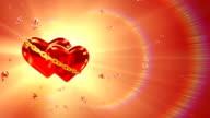 Two hearts in love - left side (loop, HD1080) video