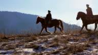 Two horsemen. video