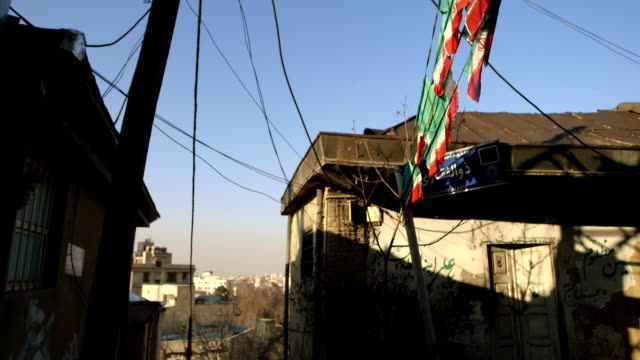 Two houses on a small street in Tehran video
