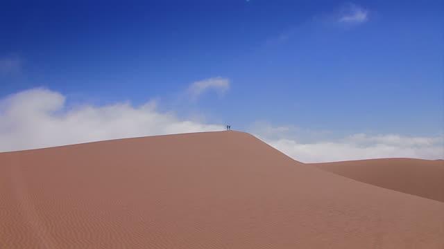 two humans on a dune - Menschen_auf_Duene2 video
