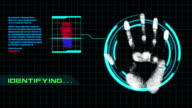 Two in One Video Fingerprint Scanning Security With Alpha Channel video