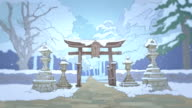 two japan stylized backgrounds video