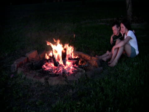 Two kids camping PAL video