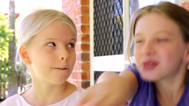 Two little girls being silly and having fun video
