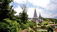 Two pagoda  in an doi Inthanon mountain, chiang mai, Thailand video