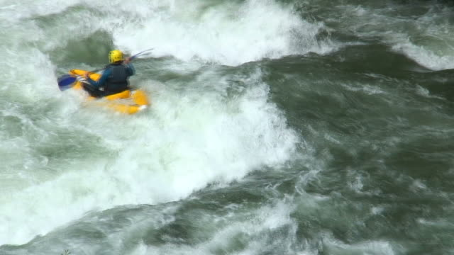 Two rafting boats video
