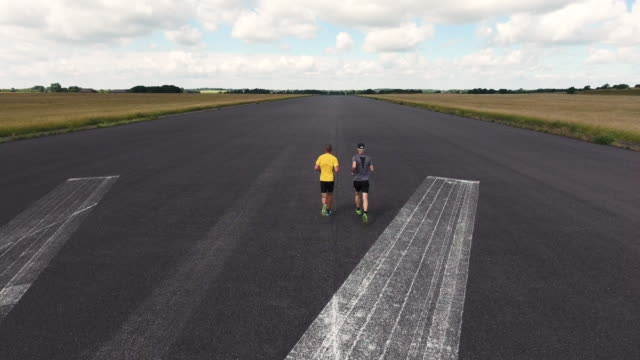 Two runners from above video