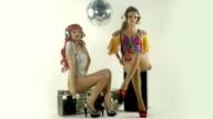two sexy gogo disco dance video