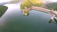 two sport men fishing on a lake - wide angle  view video
