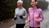 Two sporty women video
