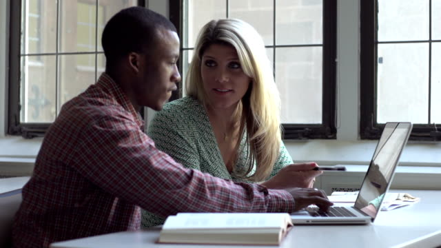 Two students studying together video