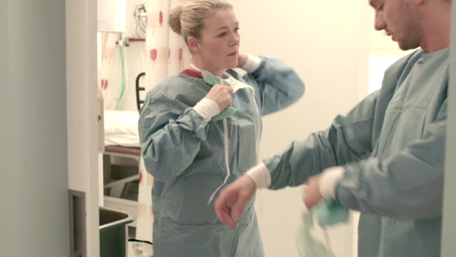 Two surgeons after an operation video