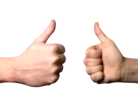 Two thumbs up video