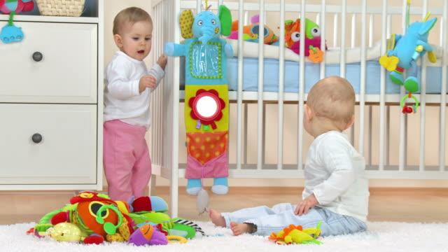 HD: Two Toddlers Having Fun video