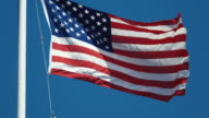 Two videos of American flag in 4K video