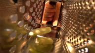 Two videos of grated cucumber in real slow motion video