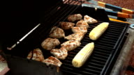 Two videos of opening the grill in real slow motion video