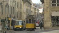Two videos of tram in Lisbon in 4K video